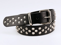 38mm Bondage Belt with Criss-Cross Pattern Dog Studs and Rivets